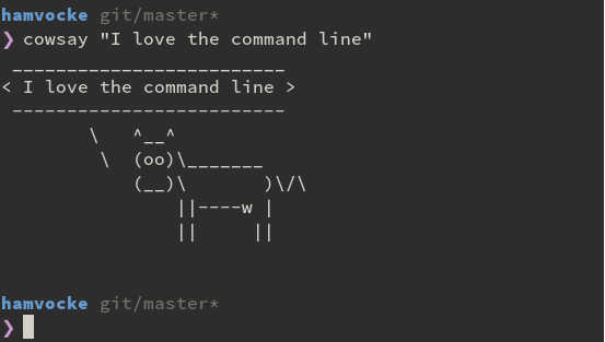 Cowsay in action